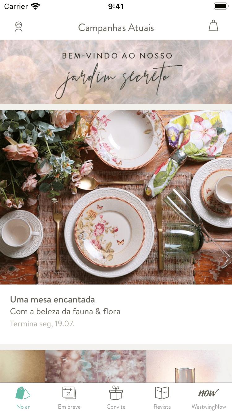 Aplicativo | iOS | Westwing.com.br
